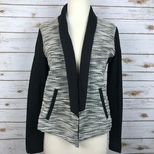 Lou and Grey Black  Marled Open Front Jacket